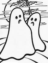 Ghost Coloring Pages Ghosts Printable Halloween Simple Template Clip Seventh Haunt Month Templates Filminspector Bestcoloringpagesforkids sketch template