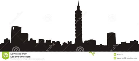 taipei   city stock vector illustration  dawn