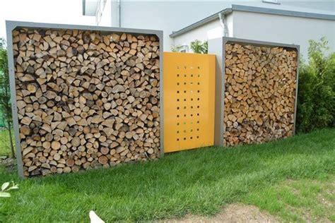 Sichtschutz Garten Zum Hinstellen by Kaminholzregal Und Sichtschutz Metall Holztrennwand