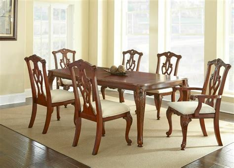 charity pc dining room set  cherry table chairs formal