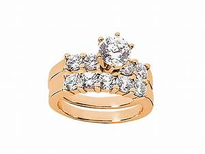 Natural 250ct round cut diamond engagement ring wedding for 18k gold wedding ring set