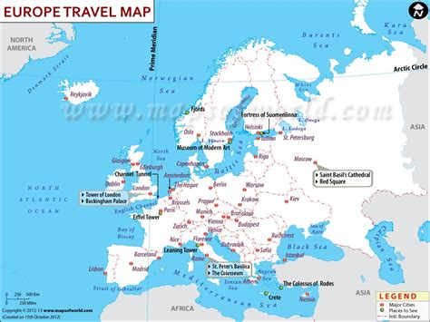 maps update 1000750 tourist attractions map in europe