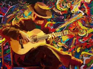Flamenco Guitarist Painting by Corporate Art Task Force