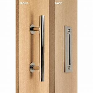 strongar contemporary 12 in polished chrome ladder pull With chrome sliding barn door hardware