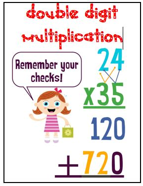 Stuff Students Say And Other Classroom Treasures Double Digit Multiplication Signs