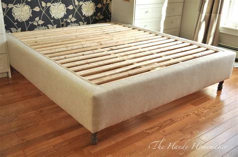 mattress and bed frame upholstered bed frame diy part 1 the handy homemaker