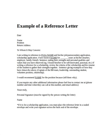 employment reference letter   word excel