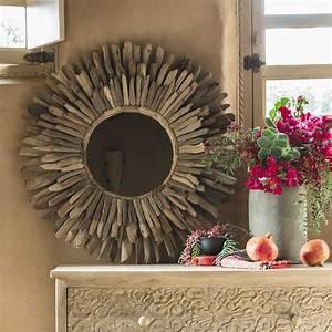 Miroir Bois Flotté : miroir en bois flott d 74 cm karukera maisons du monde ~ Teatrodelosmanantiales.com Idées de Décoration