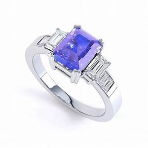 9k white gold tanzanite and diamond engagement ring h si With tanzanite wedding rings