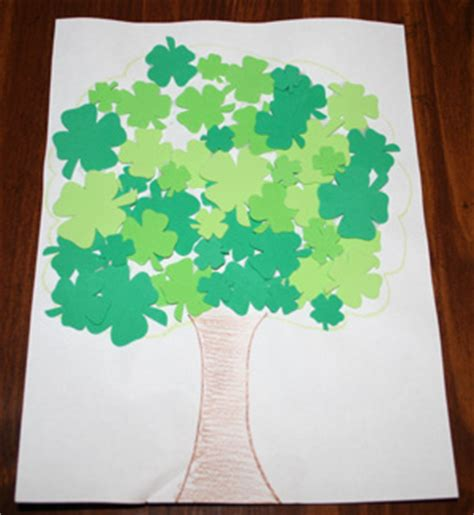 st s day crafts all network 701 | shamrock tree craft