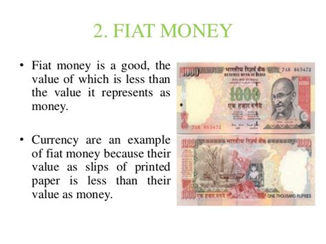 By Fiat Definition by Money