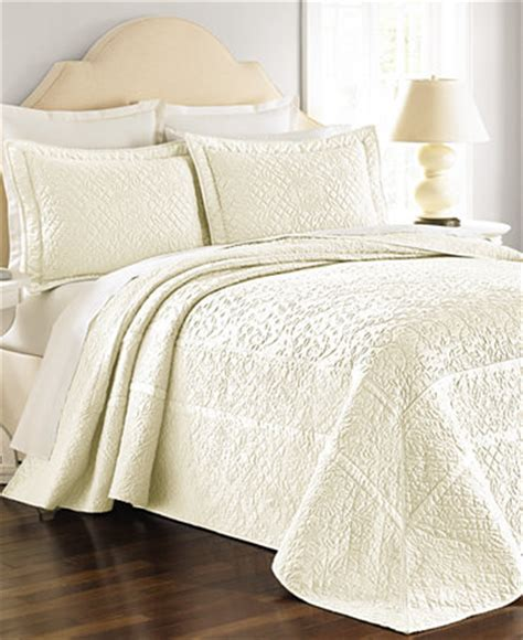 Macys Coverlets by Martha Stewart Collection Flowering Trellis Ivory