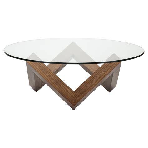 Add to favorites mid century modern. Caesar Mid Century Modern Brown Wood Tempered Round Glass ...