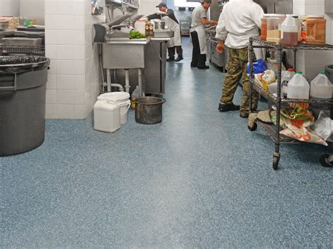 floor materials for commercial kitchens commercial restaurant flooring safe durable and attractive