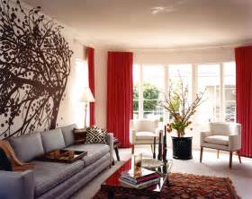 red and brown living room for comfortable living room red