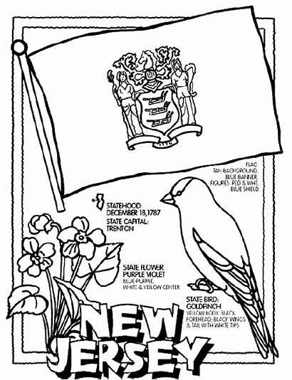 Coloring Pages Crayola Jersey State Flag Nj