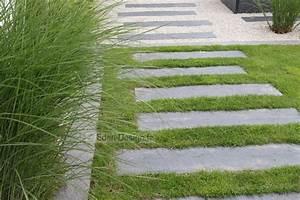Allée De Jardin Pas Cher : all e de jardin en pas japonais en ardoise l 39 all e passe ~ Carolinahurricanesstore.com Idées de Décoration