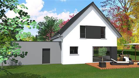 maison moderne avec toit cabinet de maitrise d oeuvre c 178 maison contemporaine 2 pans et toit plat sur garage accol 233 sur