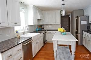 Marble Top Kitchen Island Remodelaholic White Kitchen Overhaul With Diy Marble Island