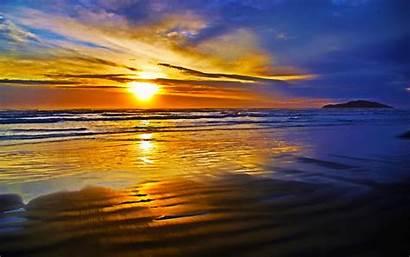 Sunset Ocean Beach Wave Nature Bright Island