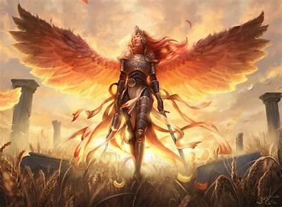 Warrior Angel Fantasy Kayle Arrive Aurelia Wallpapers