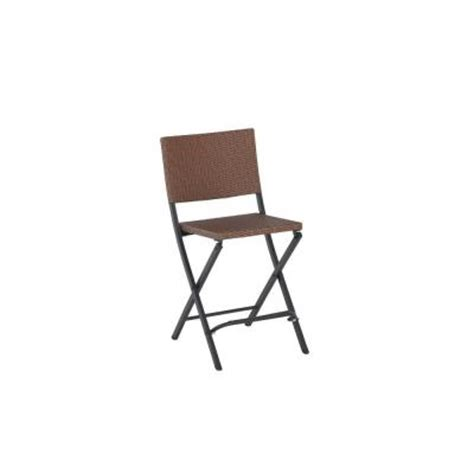 franklin park wicker folding high patio dining chair 2 pack