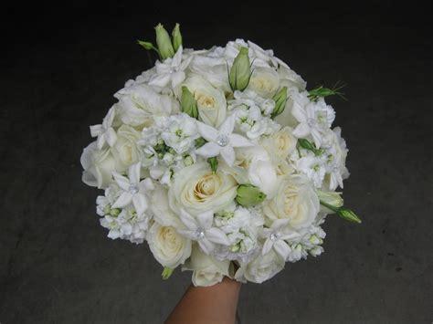 All White Wedding Bouquet Stadium Flowers
