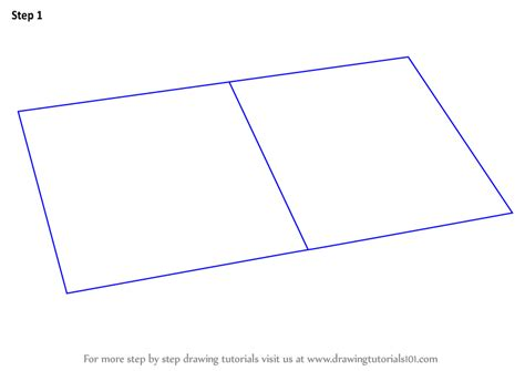 Learn How to Draw an Open Book (Everyday Objects) Step by Step : Drawing Tutorials
