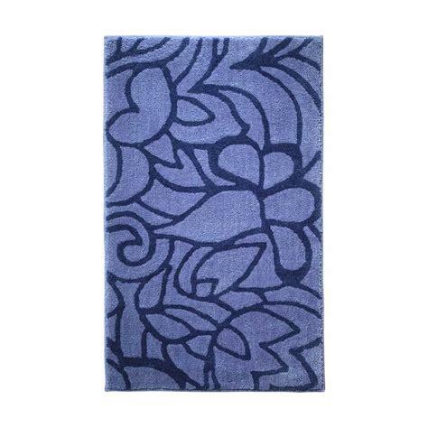 tapis de salle de bain haut de gamme bleu violet