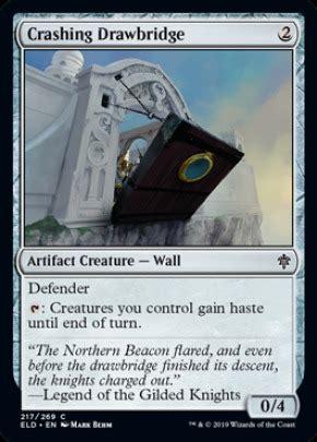 crashing drawbridge artifact cards mtg salvation