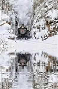 Steam Train Winter Scenes
