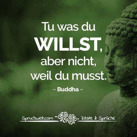 tu was du willst aber nicht weil du musst buddha zitat