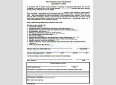 Tattoo Piercing Consent Form Tattooart Hd