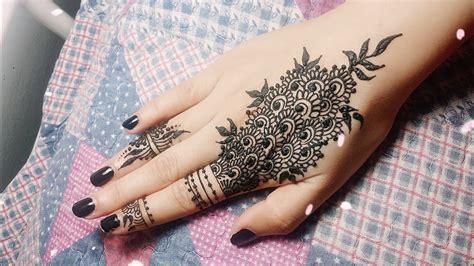 Diy Easy Mehendi Design For Fingers Tutorial #11