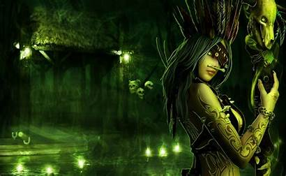 Witch Fantasy Wallpapers Background Dark Wiccan Warrior