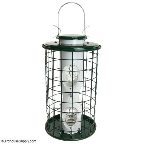caged bird feeder by woodlink from birdhousesupply com