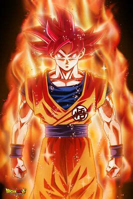 dragon ball super poster goku super saiyan god red ssjg