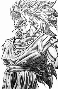 Goku Super Saiyan 3 By Ticodrawing On Deviantart Dbz