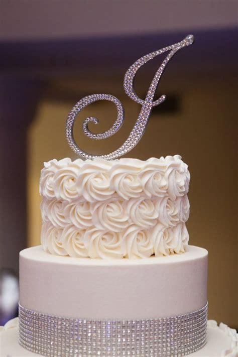 shipping swarovski crystal monogram cake