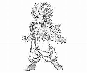 Free coloring pages of kid goten