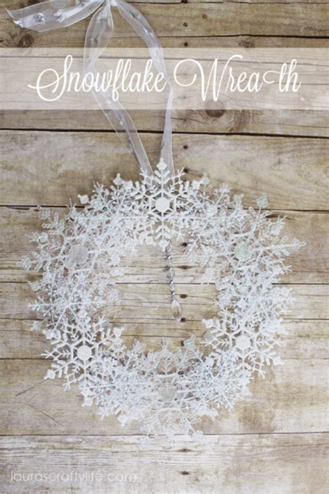 creative diy projects  snowflakes