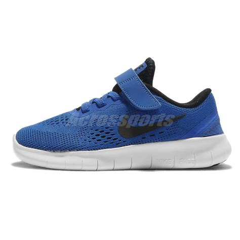 nike free rn psv black blue preschool boys running shoes 260 | 833991401 1