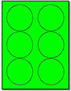 600 round neon labels 333 inch fluorescent green stickers With avery 5295 template
