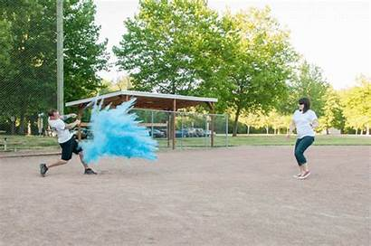 Reveal Gender Party Powder Baseball Reveals Creative