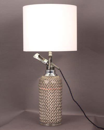glass table lamp soda syphon vintage vintage retro