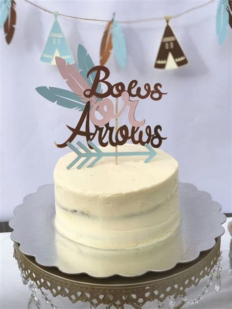 bows  arrows gender reveal party ideas halfpint party