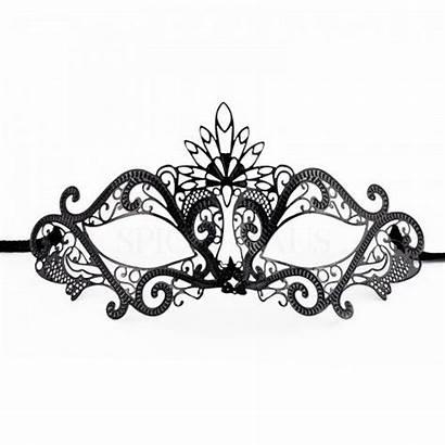 Masquerade Lace Mask Template Venetian Masks Metal