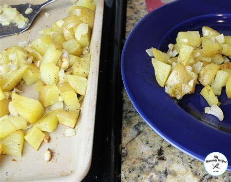 roasted potatoes and onions the best roasted potatoes and onions video my heavenly recipes