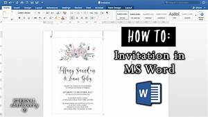 How to make an invitation in microsoft word diy wedding for How to print wedding invitations using word
