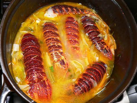 cuisiner queue de langouste recettes langouste